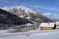 Winter day in Feutersoey, Swiss Alps.