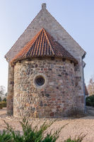 A round apse of a medieval stone churh