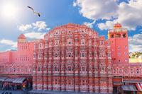 Hawa Mahal Palace in India, Pink City of Jaipur