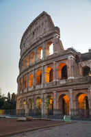 The Colosseum or Flavian Amphitheatre in Rome, Italy