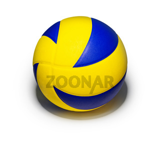 Yellow blue volleyball ball