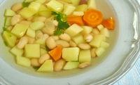 Roman lardo Bean  soup
