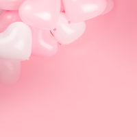 Valentines day heart shaped balloons
