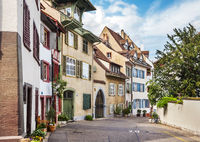 Old part of the city of Basel. Switzerland
