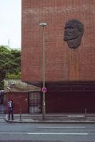 Lenin-Relief, Behrenstrasse, Berlin, Deutschland