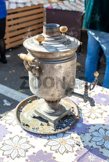 Retro soot grunge tea samovar