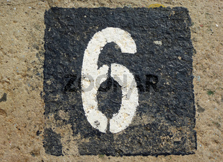 6 - weathered number