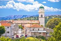 Historic town of Bribir in Vinodol valley view