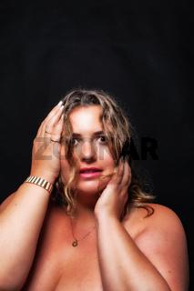 Portrait eines Plus size sexy model