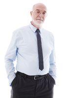 Senior Businessman on white