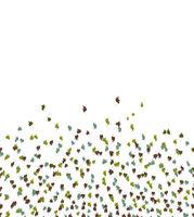 Multicolor Leaves Motif Pattern