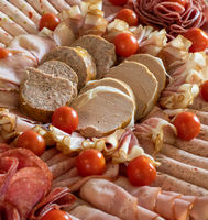 Sausage plate for a party