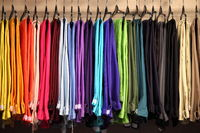 Female pants in a fashion shop