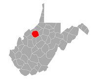 Karte von Ritchie in West Virginia - Map of Ritchie in West Virginia
