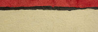 red, black and beige abstract paper landscape