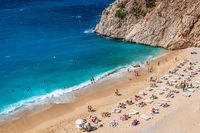Kaputas beach, one of the best beaches in Turkey, Mediterranean sea.