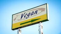 Street Sign to Vegan