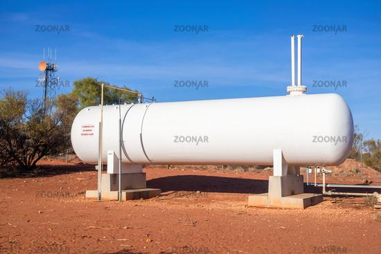 big white gas tank in Australia