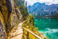 Walking trail around the lake