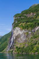 Waterfalls Geirangerfjord in Norway