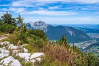 Aussicht vom Gipfel des Prediktstuhls im Berchtesgadener Land