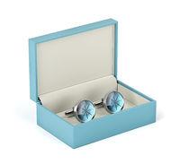 Box with cufflinks