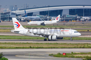 China Eastern Airlines Airbus A320neo Flugzeug Flughafen Guangzhou in China