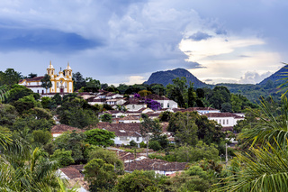 Panorama of the historic city of Tiradentes and its architecture