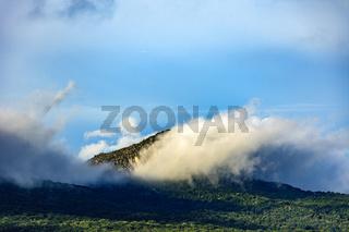 Late afternoon at the Sao Jose mountain range in Tiradentes Minas Gerais