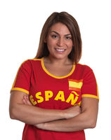 Spanish girl with crossed arms