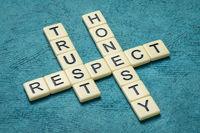 trust, respect and honesty crossword