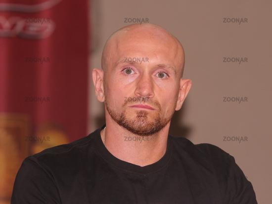 Profi Boxer Roman Gorst Deutscher Meister im Schwergewicht bei der PK zur SES-Boxing-Gala am 22.09.2020 in Magdeburg