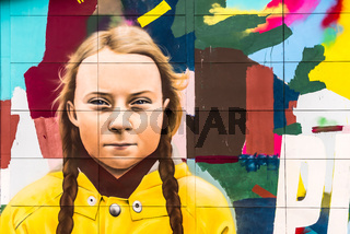 The Swedish climate activist Greta Thunberg,