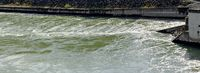 Wasserstrudel im Auslauf der Turbine 7 des Donaukraftwerkes Ybbs-Persenbeug