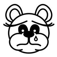 Lustiger Bär - traurig