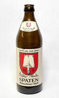 leere Bierflasche der Brauerei Spaten aus München