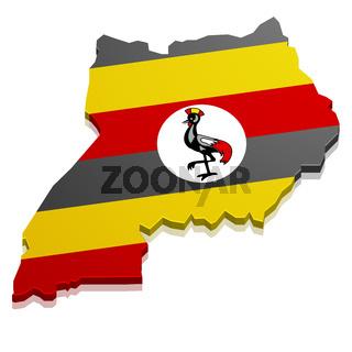 Map Uganda