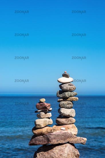 Steine an der Küste der Ostsee auf dem Fischland-Darß