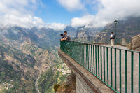 People wondering a Mountain View at Madeira Island, Portugal