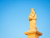 Statue of holy mother with jesus child in burgenland