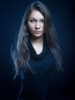 Beautiful woman. Fashion photo on black background