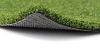 Flipped Up Section of Artificial Turf Grass On White Background