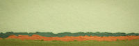 green and orange abstract paper landscape