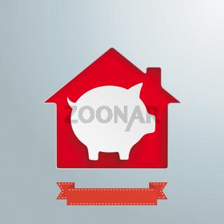 House Hole White Piggy Bank PiAd