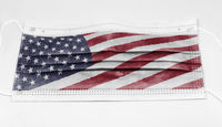 surgical mask with the USA national flag printed