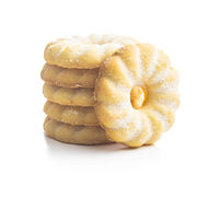 Sweet rings cookies. Biscuits with vanilla flavor