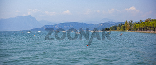 Garda panorama view from Lazise in Italy 4