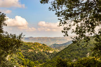 View of hills in Crete with