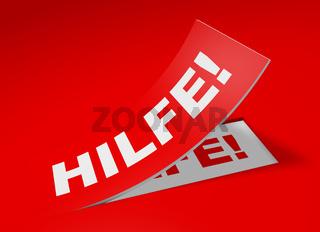 3D Etikett Rot - Hilfe