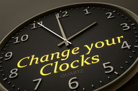 change your clocks modern black clock style